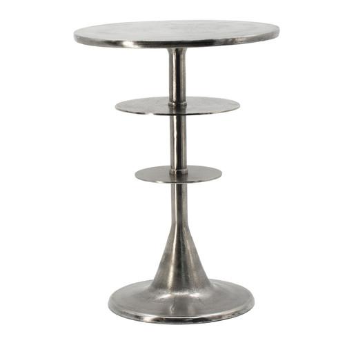 "Aluminum Accent Table 15.5x15.5x21.5"" Sliver"