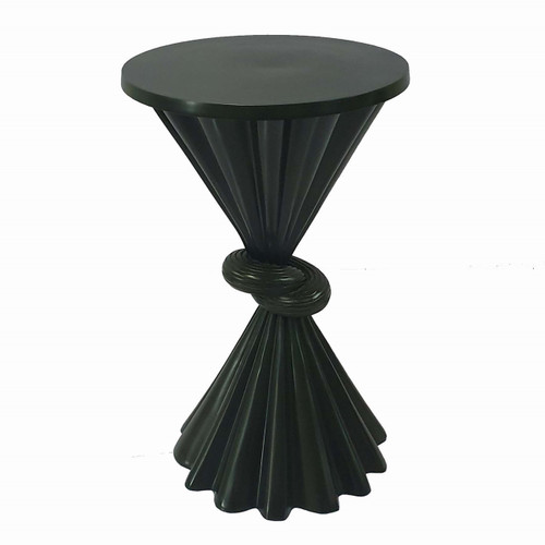 Aluminium Knot Side Table Black D11.5x19.5""