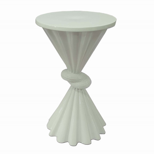 Aluminium Knot Side Table White D11.5x19.5""