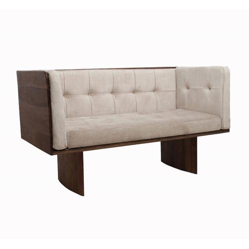 "Sheesham Wood 2-Seater Sofa 55x27.5x30"""