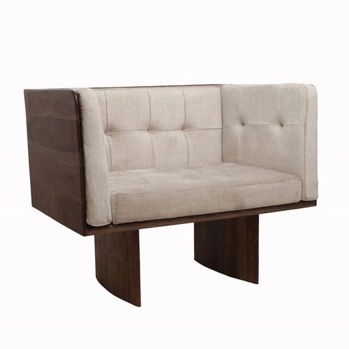 "Sheesham Wood 1-Seater Sofa 29.5x27.5x30"""