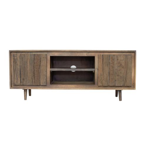 """TV Cabinet With Recycle Wood 2 Door 55x16x23"""""""