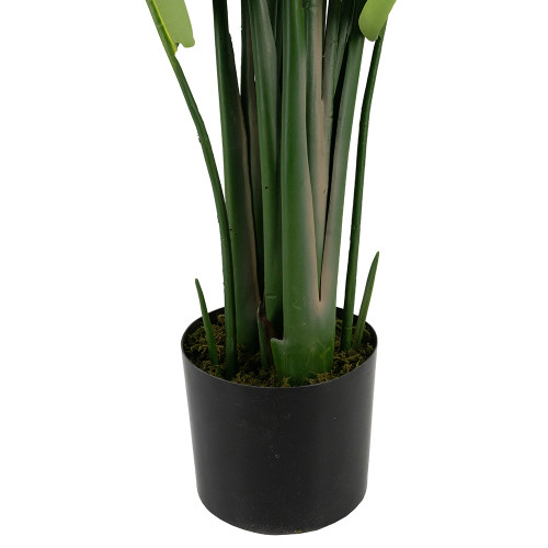 "Set Of 2 81"" Faux Banana Tree Plant In Pot"