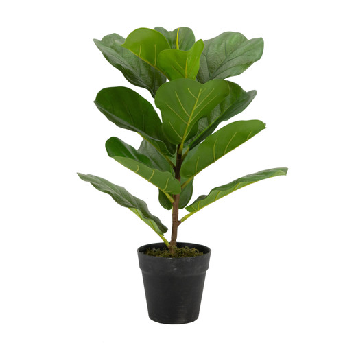 "22"" Faux Fiddle-Leaf Fig Tree Plant In Pot"