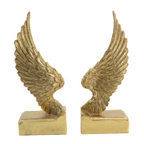 "Wing Bookends 3.5x3x9"" Pair"