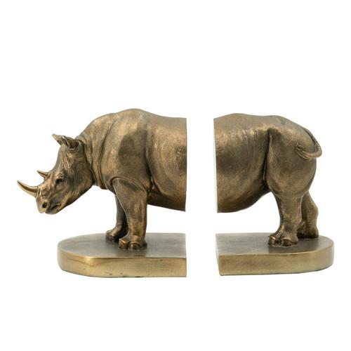 "Rhino Bronze Bookends 11x4.5x6"""