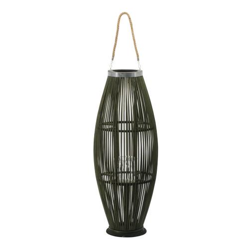 "Boho Chic Bamboo Candle Lantern D12.5x33"""