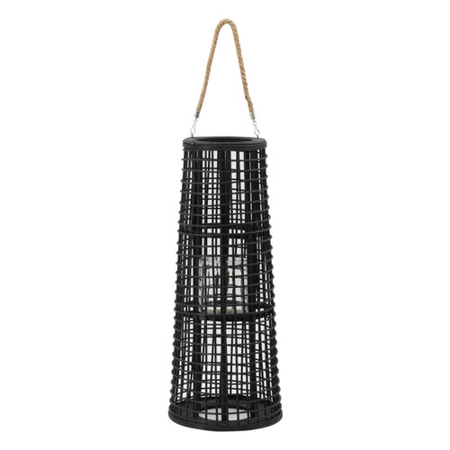 Rattan Tapered Candle Lantern w/ Handle D10x25""