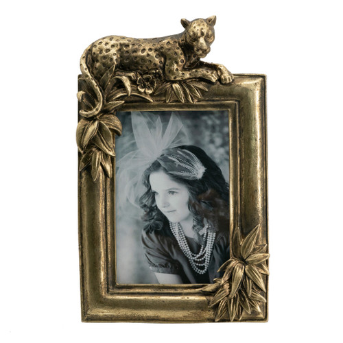 """Leopard Photo Frame, 4x6"""" Opening"""