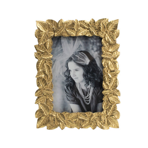 """Textured Leaf Photo Frame, 4x6"""" Opening"""