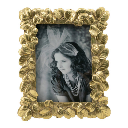 """Textured Leaf Photo Frame, 5x7"""" Opening"""
