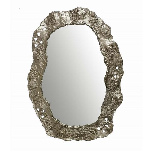 "Aluminum Abstract Wall Mirror 25x35"""