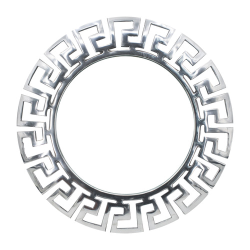 """Aluminum Greek-style Cut Out Wall Mirror D12.5"""""""