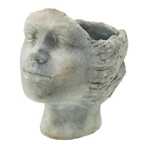 """Resting Profile Head Planter 8.5x7x9.5"""""""