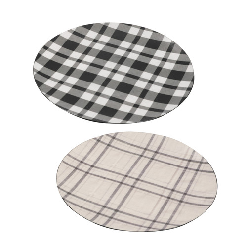 "Round Charger Plate D13"" Set Of 2"
