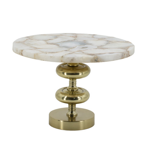 Agate Cake Stand With Metal Base D14x10""
