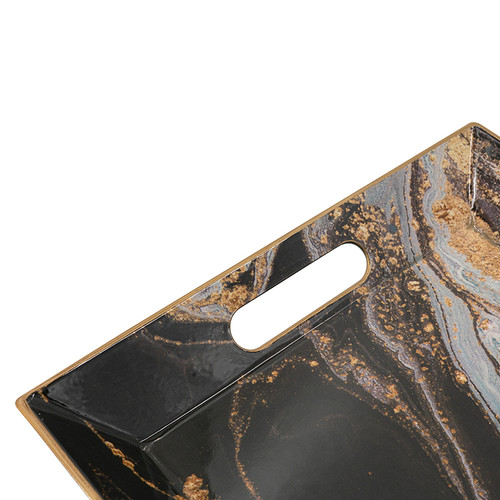 """Faux Marble Rectangle Decorative Tray 16x10.5x1.5"""""""
