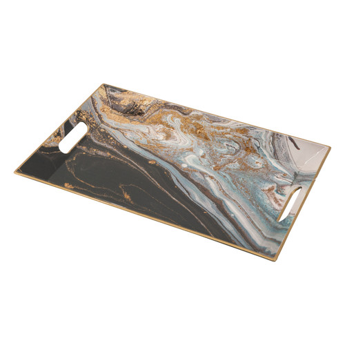 Faux Marble Rectangle Decorative Tray 16x10.5x1.5""