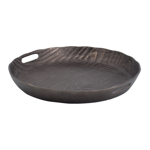Aluminum Decorative Timber Tray D18x2""