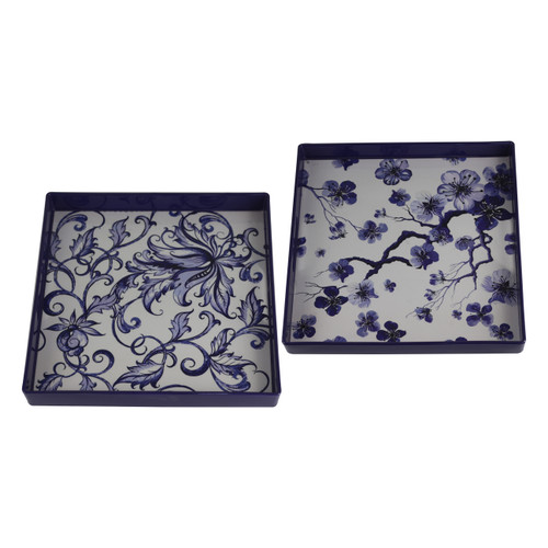 Decorative Square Trays Set Of 2