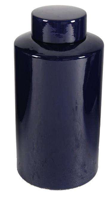 Porcelain Jar With Lid Blue