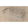 Large Shampoo Basket in Brushed Nickel