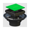 Three Piece Drain Assembly with Square Riser in ABS