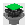 Three Piece Drain Assembly with Square Riser in PVC