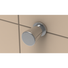 Cone Hook - Contemporary in Polished Chrome