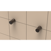 Thumb Hooks with Contemporary Cap in Oil Rubbed Bronze