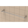 "TileWare 18"" Towel bar - Promessa Series - Contemporary end caps"