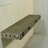 Adjustable bench midway through installation
