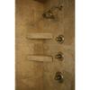 """Two Innovis 17"""" Corner Shelves installed in a shower"""