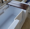 So Lo Walk-In Bathtub featuring easy access side entry door and bamboo transfer bench