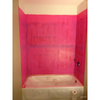 RedGard applied to bathtub walls