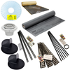 Oatey PVC 40 mil Shower Liner Kit with Goof Proof slope systems, ABS drain, and Kirb-Perfect