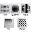 "ACO Premium 6"" Shower Point Drain locking and non-locking grate options"