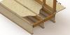 cutaway view of installed subfloor lowering kit