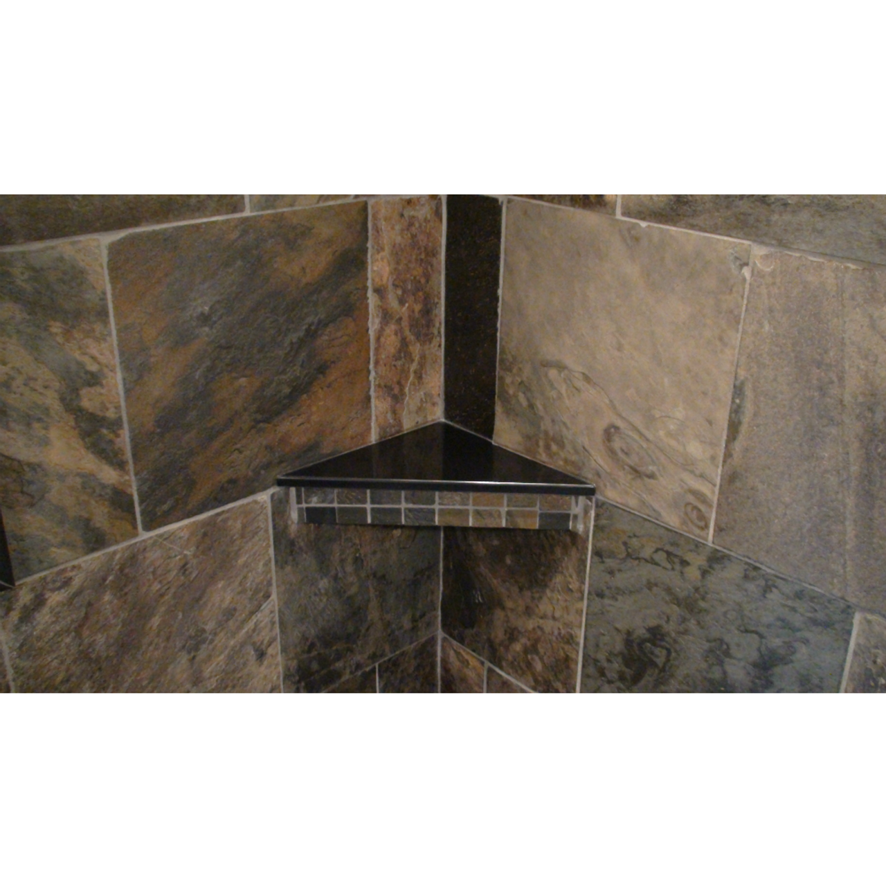 Corner Bench Or Shelf Slab In Cultured Marble Onyx Or Granite