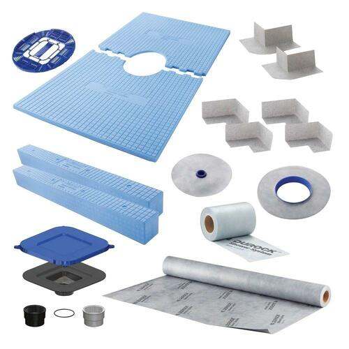 "Durock Shower Kit 32""x 60"" Center Drain"