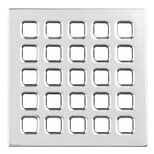 Durock Drain Grate - Polish Chrome