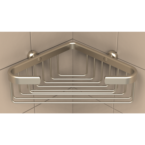 Deep Corner Basket in Brushed Nickel