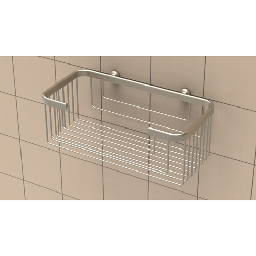 Extra Deep Shampoo Basket in Brushed Nickel