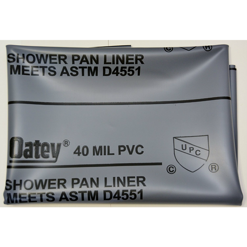 Oatey PVC Shower Liner 40 mil