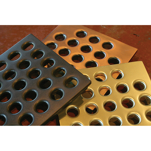 "Ebbe 4"" Square Drain Grate Covers are available in many finishes"