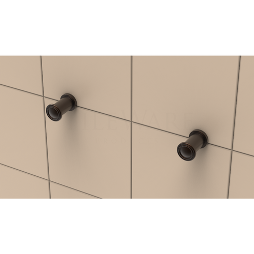 Tee Hook Duo with Traditional Cap in Oil Rubbed Bronze
