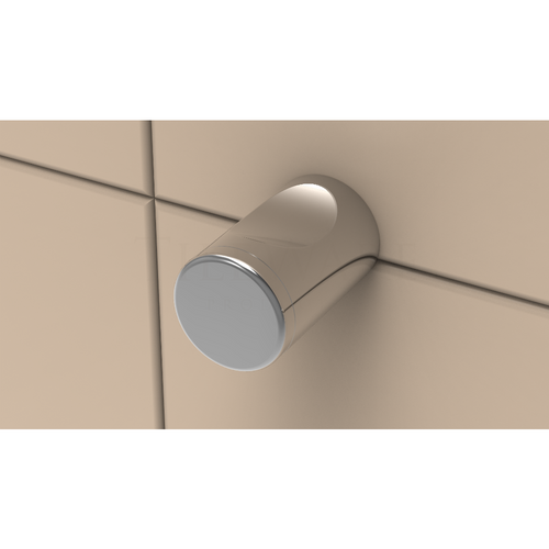 Thumb Hook with Contemporary cap in Polished Chrome