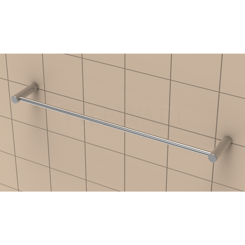 "TileWare 18"" Towel bar - Promessa Series - Contemporary end caps"