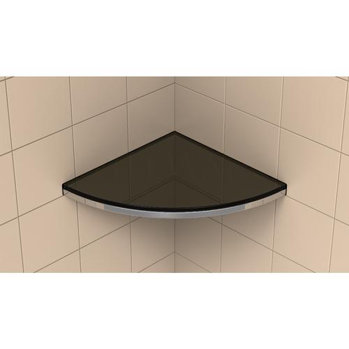 Claddy T Shelf installed with glass shelf in Raven