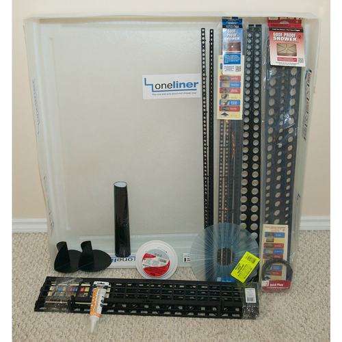 OneLiner Square Waterproofing kit with Oatey Drain
